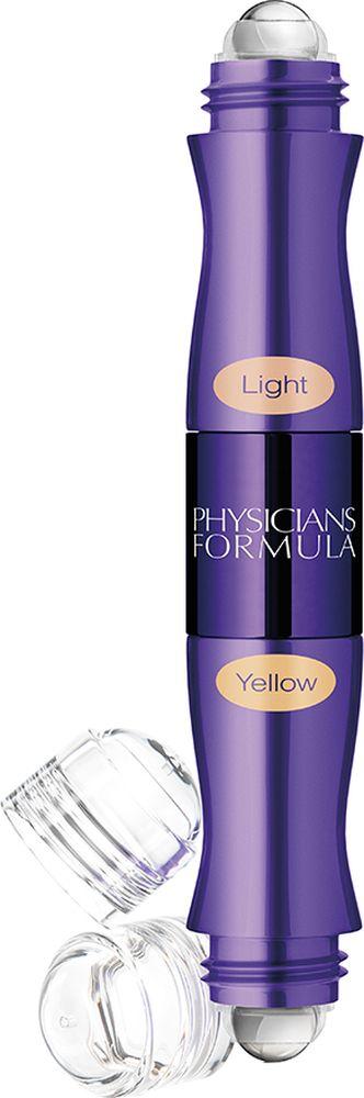 Physicians Formula Консилер двухцветный с ролл-аппликатором Youthful Wear Dark Circle Corrector+Concealer тон светлый+желтый 9 г7881EУдобный универсальный продукт 2 в 1, сочетающий в себе 2 оттенка. Корректирующим цветом вы скрываете несовершенства кожи, бежевым оттенком вы добиваетесь идеального результата. После нанесения консилера, кожа сияет красотой, свежестью и здоровьем. Текстура консилера обладает приятной невесомостью, легко наносится и растушевывается с помощью ролика в аппликаторе. Немного теории по корректировке несовершенств кожи: желтый оттенок консилера нейтрализует темные, синеватые круги под глазами. Зеленый оттенок скрывает покраснения, высыпания и небольшие шрамы.