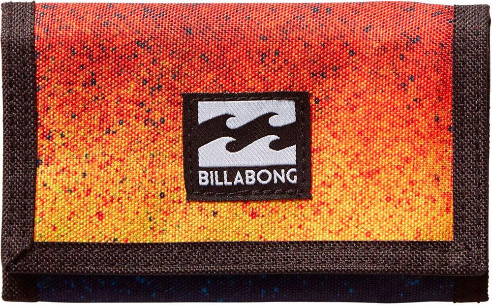 Кошелек Billabong Atom Wallet, цвет: оранжевый, синий, черный. 36078693694693607869369469Классический тряпичный кошелек с новыми расцветками от Billabong.