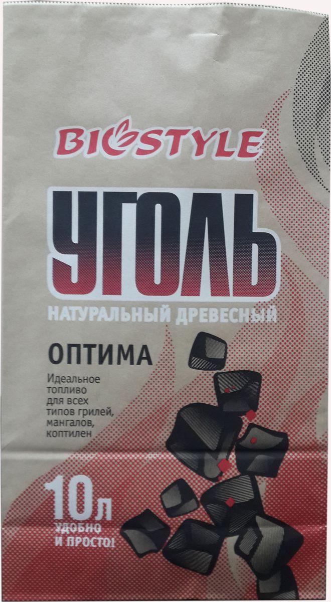 Уголь древесный Biostyle Оптима, 10 л101-002Уголь древесный в пакете BIO Оптима, 10л, вес 1-1,1 кг.