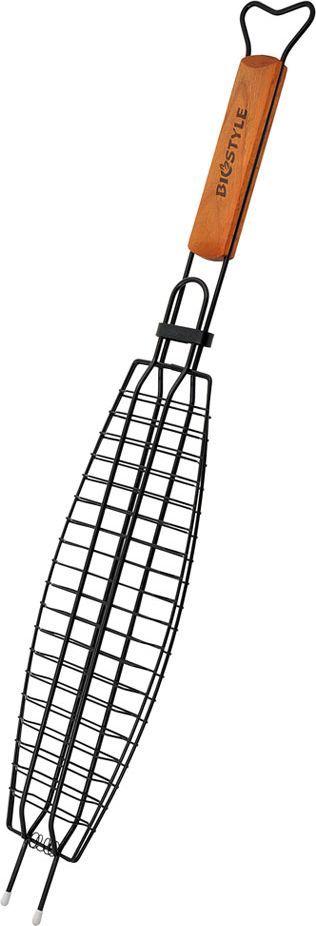 Решетка-гриль Biostyle Царская, с антипригарным покрытием, 35 х 11 см101-208В решетке-гриль удобно готовить рыбу целиком. Решетка рассчитана на одну среднюю рыбу. Рекомендуемая толщина продуктов до 2,5 см. Благодаря высококачественному антипригарному покрытию пища не прилипает к прутьям решётки, после использования ее достаточно протереть влажной салфеткой. Толщина прута 2 мм.