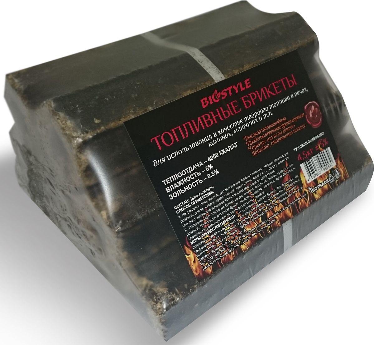 Топливные брикеты Biostyle Piny Kay, 4,5 кг101-409Твердые топливные брикеты стандарта «Pini-Kay» (пини-кей) имеют форму неправильного многогранника с отверстием внутри. Эти превосходные современные дрова произведены путем прессования сухой измельченной древесины под высоким давлением и при высокой температуре. Они имеют максимальную продолжительность горения и теплоту сгорания. Топливные брикеты пини-кей более стойки к механическим воздействиям и повышенной влажности. Евродрова этого типа горят красивым ровным пламенем и являются отличной заменой березовым дровам. Поэтому рекомендуем использовать их в каминах.