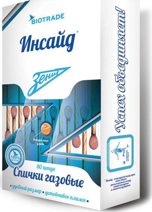 Спички газовые Зенит Инсайд, 80 шт404-604Газовые спички длиной 9 см позволят легко разжечь плиту или духовку, не опасаясь за обожённые руки.