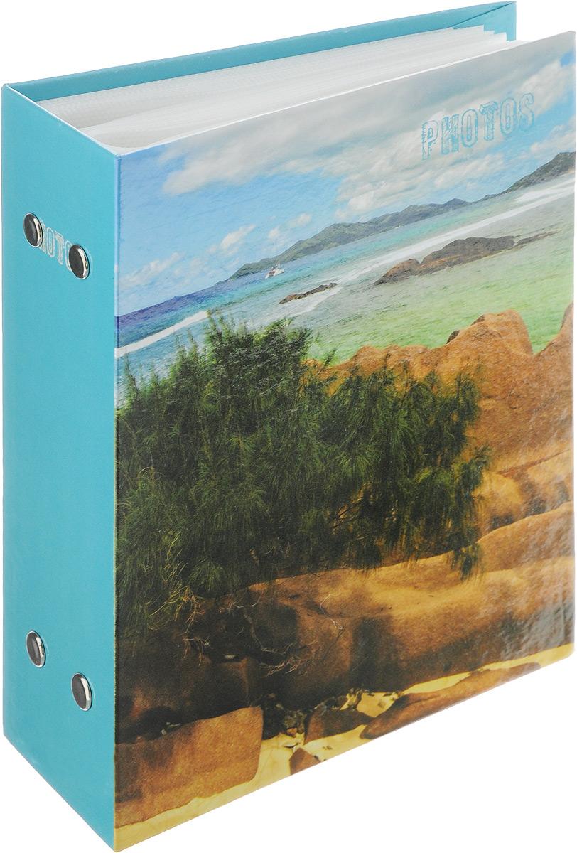 Фотоальбом Pioneer Deep Sea, 100 фотографий, цвет: голубой, зеленый, 10 x 15 см46257 РР-46100Фотоальбом Pioneer Deep Sea поможет красиво оформить ваши самые интересные фотографии. Обложка из толстого ламинированного картона оформлена принтом. Фотоальбом рассчитан на 100 фотографий форматом 10 x 15 см. Внутри содержится блок из 50 листов с окошками из полипропилена, одна страница оформлена двумя окошками для фотографий. Такой необычный фотоальбом позволит легко заполнить страницы вашей истории, и с годами ничего не забудется. Тип обложки: Ламинированный картон. Тип листов: полипропиленовые. Тип переплета: высокочастотная сварка. Кол-во фотографий: 100. Материалы, использованные в изготовлении альбома, обеспечивают высокое качество хранения ваших фотографий, поэтому фотографии не желтеют со временем.