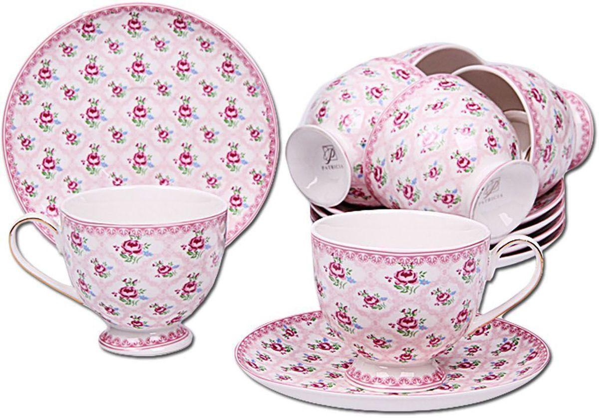 Набор чайный Patricia, 12 предметов, 220 мл. IM56-1622IM56-1622Набор включает в себя 12 предметов. В него входят 6 кружек объемом 220 мл и 6 блюдец. Набор выполнен из фарфора высокого качества. Набор с таким красочным принтом станет отличным подарком или украшением вашей собственной кухни.