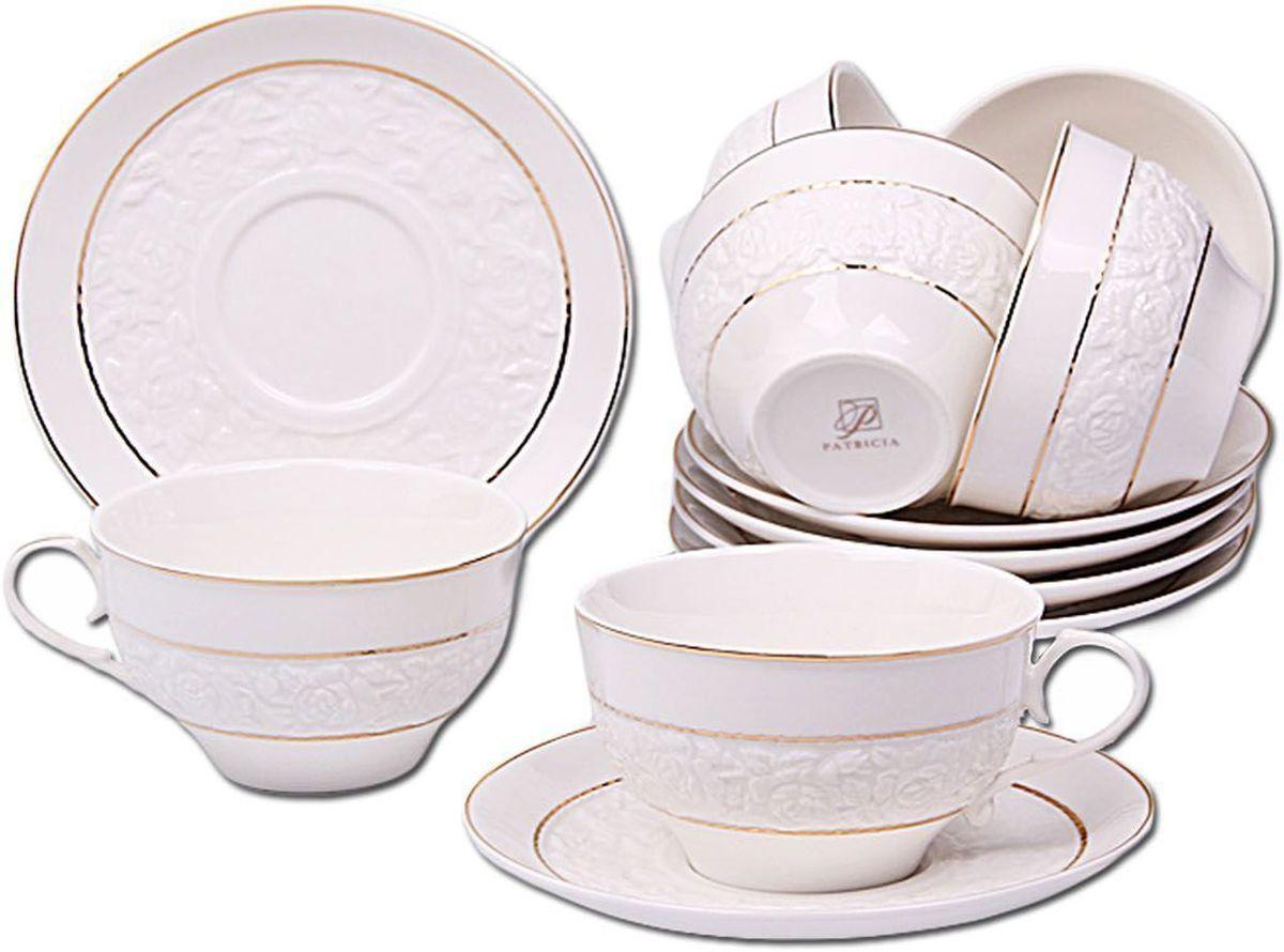 Набор чайный Patricia, 12 предмтов, 250 мл. IM56-1522IM56-1522Набор включает в себя 12 предметов. В него входят 6 кружек объемом 250 мл и 6 блюдец. Набор выполнен из фарфора высокого качества. Набор с таким красочным принтом станет отличным подарком или украшением вашей собственной кухни.