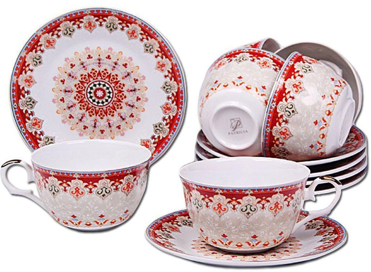 Набор чайный Patricia, 12 предмтов, 250 мл. IM56-1722IM56-1722Набор включает в себя 12 предметов. В него входят 6 кружек объемом 220 мл и 6 блюдец. Набор выполнен из фарфора высокого качества. Набор с таким красочным принтом станет отличным подарком или украшением вашей собственной кухни.