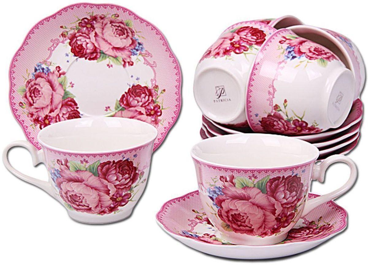Набор чайный Patricia, 12 предмтов, 250 мл. IM56-2122IM56-2122Набор включает в себя 12 предметов. В него входят 6 кружек объемом 250 мл и 6 блюдец. Набор выполнен из фарфора высокого качества. Набор с таким красочным принтом станет отличным подарком или украшением вашей собственной кухни.
