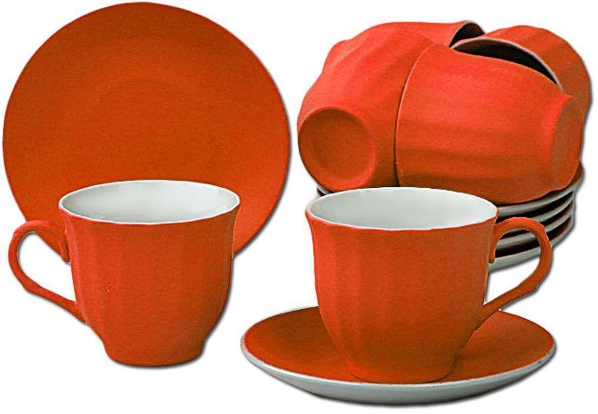 Чайный набор Patricia, 12 предметов, 250 мл. IM99-5292/оранжIM99-5292/оранжНабор включает в себя 12 предметов. В него входят 6 кружкек объемом 250 мл и 6 блюдцец. Набор выполнен из фарфора высокого качества. Набор с таким красочным принтом станет отличным подарком или украшением вашей собственной кухни.