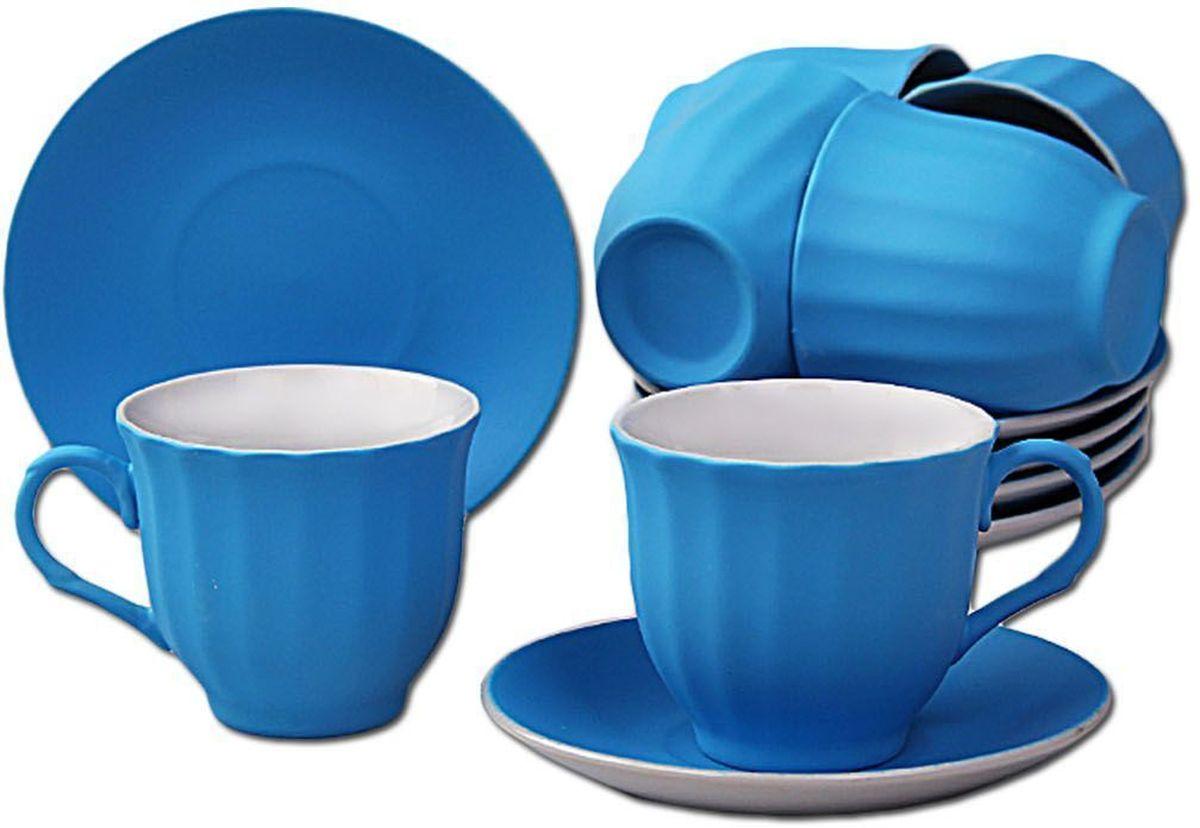 Чайный набор Patricia, 12 предметов, 250 мл. IM99-5292/синийIM99-5292/синийНабор включает в себя 12 предметов. В него входят 6 кружкек объемом 250 мл и 6 блюдцец. Набор выполнен из фарфора высокого качества. Набор с таким красочным принтом станет отличным подарком или украшением вашей собственной кухни.