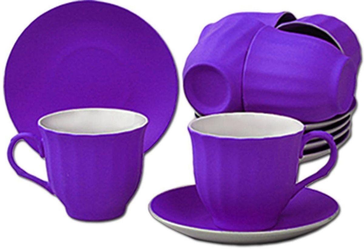 Чайный набор Patricia, 12 предметов, 250 мл. IM99-5292/фиолетIM99-5292/фиолетНабор включает в себя 12 предметов. В него входят 6 кружкек объемом 250 мл и 6 блюдцец. Набор выполнен из фарфора высокого качества. Набор с таким красочным принтом станет отличным подарком или украшением вашей собственной кухни.