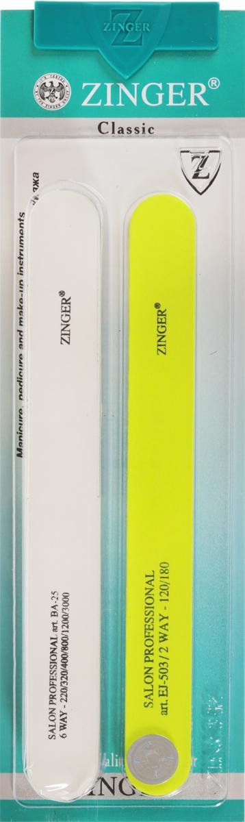 Zinger Набор пилок zo-SIS-2310712Комплект маникюрных наждаков предназначен для придания формы ногтям и полировки его поверхности Уважаемые клиенты! Обращаем ваше внимание на то, что товар находится в цветовом ассортименте.
