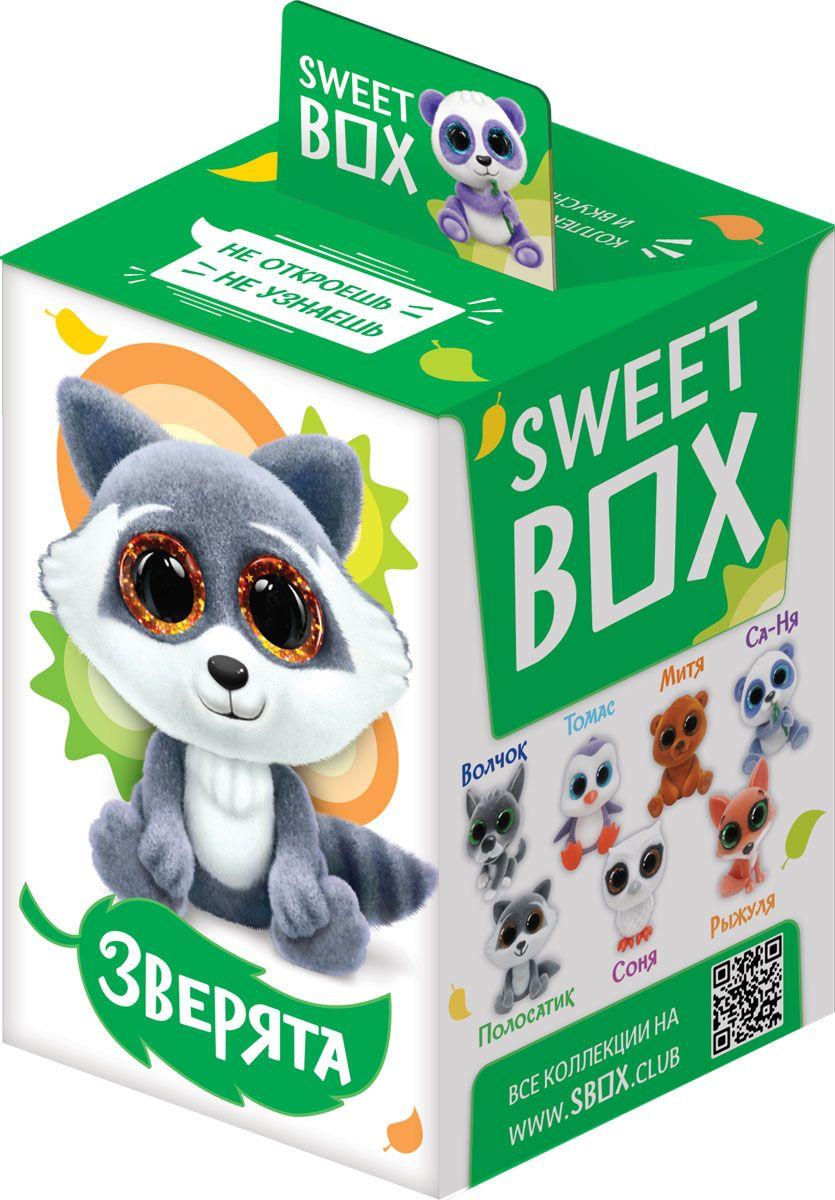 Sweet Box Зверята с кристальными глазами жевательный мармелад с игрушкой, 10 гУТ20711Зверята – новая коллекция забавных игрушек в форме зверят с большими кристальными глазами! 7 милых зверят в коллекции.