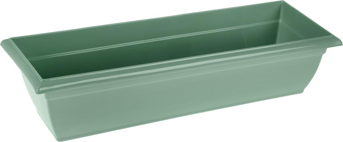 Ящик балконный Santino, с поддоном, 60 х 19 х 15 смЯБ 600_нефритБалконный ящик Santino изготовлен из высококачественного цветного полипропилена. Изделие предназначено для выращивания цветов и рассады как на балконе, так и в комнатных условиях.