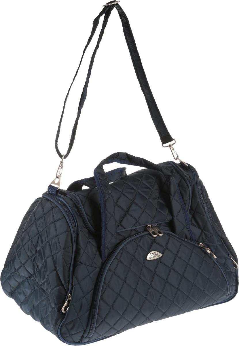 Сумка дорожная Polar, 57 л, цвет: синий. 7035.17035.1Дорожная сумка Polar. Имеет одно вместительное отделение для крупных предметов и вещей, которое закрывается на молнию. Спереди и по бокам сумки расположены карманы на молнии для средних и мелких предметов. Хороший вариант для поездок на несколько дней и командировок.