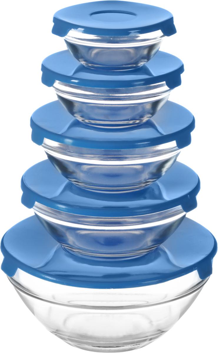 Набор мисок Bradex, с крышками, 5 штTK 0188Разные по объему миски незаменимы на любой кухне! Имея такой набор, вы сможете готовить и сервировать любые салаты, подавать в них на стол свежие фрукты, а также использовать их для хранения различных продуктов. Каждая миска из жаропрочного стекла снабжена пластиковой крышкой, чтобы приготовленное блюдо или продукты не испортились и не потеряли аппетитный вид во время хранения в холодильнике. Объем: 150 мл, 200 мл, 350 мл, 500 мл, 900 мл.