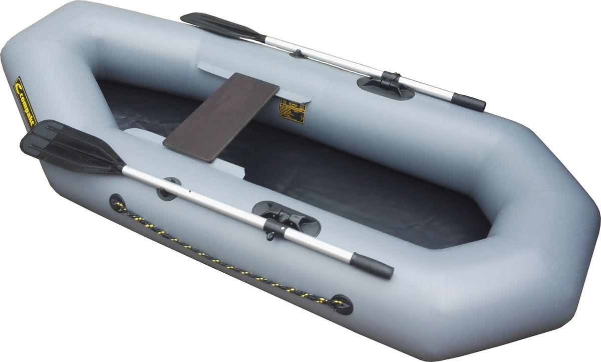 """Лодка надувная Leader """"Компакт-220"""" гребная, цвет: серый 53656"""