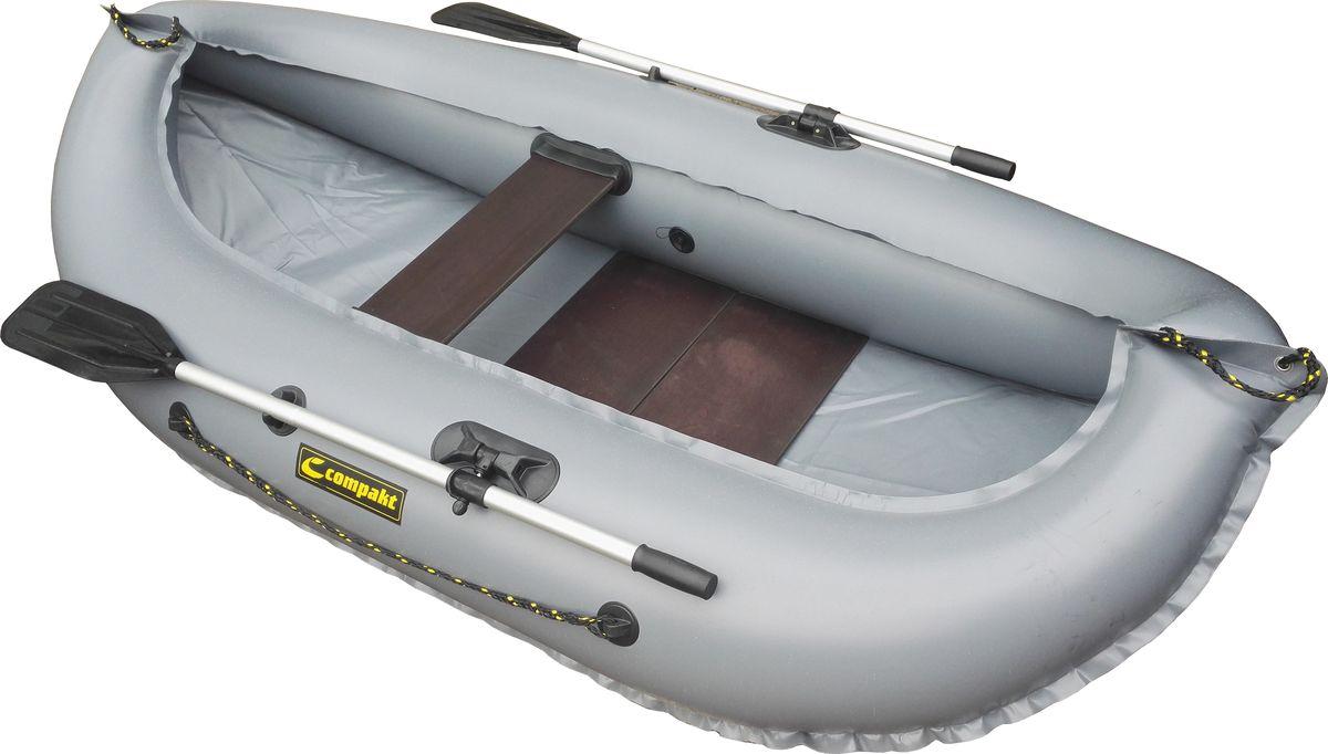 """Лодка надувная Leader """"Компакт-240"""" гребная, цвет: серый 54368"""