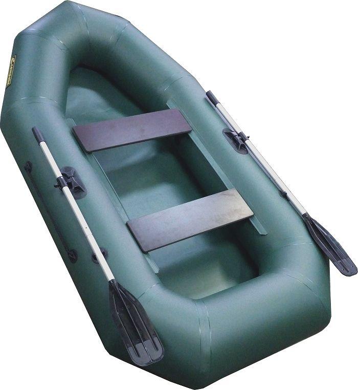 Лодка надувная Leader Компакт-255 гребная, цвет: зеленый55332Гребная надувная лодка Компакт 255 — лодка рассчитана на одного или двух пассажиров. Упаковка - ГЕРМОБАУЛ - Лодка Компакт состоит из одного замкнутого баллона, разделенного перегородками на 2 отсека, что позволит лодке остаться на плаву даже при случайном проколе баллона. - Корпус лодки Компакт изготавливается из 5-ти слойной ткани ПВХ корейского производства MIRASOL, являющейся одной из лучших на рынке. Используется ткань плотностью 750 г/м.кв. Реальный срок службы лодки из ПВХ составляет больше 15 лет. За счёт материала лодка подходит для эксплуатации в различных условиях — в тихих закрытых водоёмах, на волне или порожистых реках, среди коряг и камышей. Лодки из ПВХ не требуют специальной обработки после использования и на период хранения. - швы лодки соединены современным методом горячей сварки. Ткань соединяется встык, с проклейкой с двух сторон лентами из основного материала шириной 4 см на специальной машине. Для склейки применяется клей на...