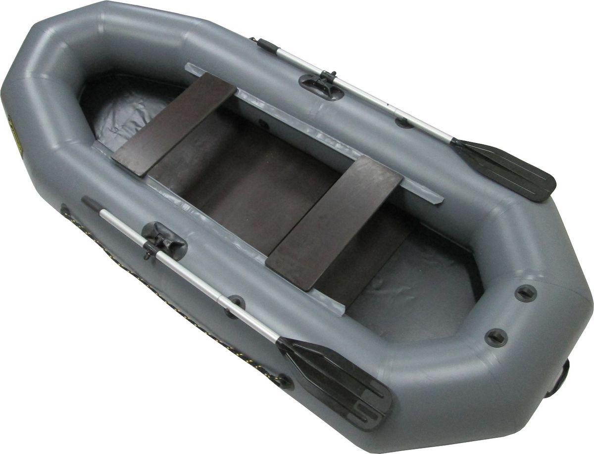 лодка пвх компакт-220 гребная с-пб цвет серый