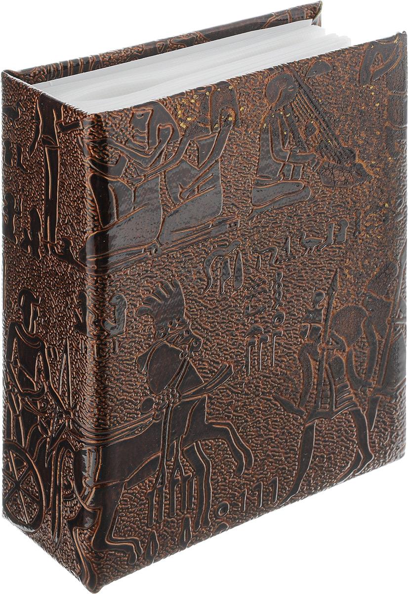 Фотоальбом Pioneer Egypt Leather, 100 фотографий, цвет: коричневый, 10 x 15 см46801 PU-46100Фотоальбом Pioneer Egypt Leather поможет красиво оформить ваши самые интересные фотографии. Обложка, выполненная из делюкс материала (искусственной кожи), оформлена принтом с первобытными людьми. Внутри содержится блок из 50 белых листов с фиксаторами- окошками из полипропилена. Альбом рассчитан на 100 фотографий формата 10 х 15 см (по 1 фотографии на странице). Переплет - высокочастотная сварка. Нам всегда так приятно вспоминать о самых счастливых моментах жизни, запечатленных на фотографиях. Поэтому фотоальбом является универсальным подарком к любому празднику. Количество листов: 50.