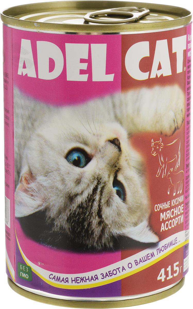 Консервы Adel-Cat, для кошек, мясное ассорти в соусе, 415 г990298Корм консервированный Adel-Cat является сбалансированным и полнорационным питанием для кошек. Корм Adel-Cat обеспечит организм ваших питомцев всеми необходимыми витаминами и микроэлементами. Технология изготовления позволяет сохранить все свойства натуральных продуктов, их качество и полезность, гарантирует поддержание здоровья и жизненных сил ваших любимцев. Товар сертифицирован.