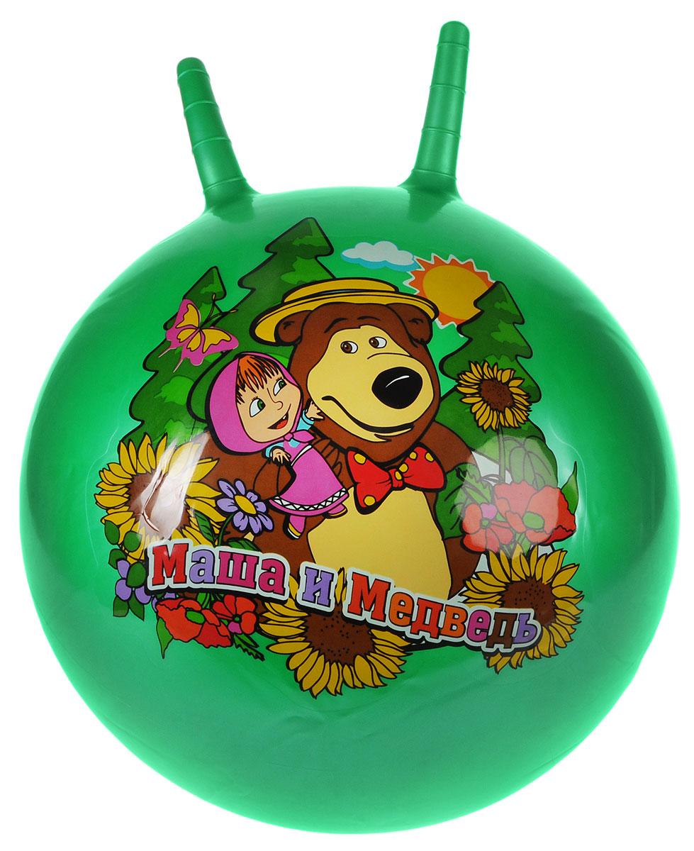 Играем вместе Мяч-прыгунок Маша и Медведь с рожками цвет зеленый 45 см SJ-18(MA) (24)_зеленый