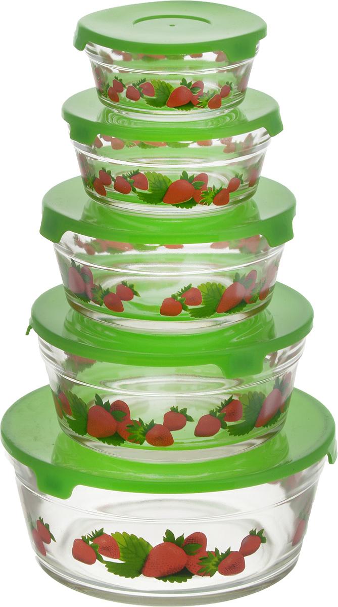 Набор салатников Wellberg Ideal, с крышками, цвет: прозрачный, зеленый, 5 шт8451WBНабор Wellberg Comfort состоит из 5 круглых салатников, выполненных из прочного стекла, и 5 пластиковых крышек. Изделия прекрасно подходят для сервировки салатов и закусок, маленькие салатники идеальны для подачи соусов. Поверхность изделий гладкая и ровная, легко чистится. Салатники снабжены плотно закрывающимися крышками, благодаря которым продукты удобно хранить в холодильнике. Такой набор станет практичным приобретением для вашей кухни. Изделия можно мыть в посудомоечной машине и использовать в микроволновой печи. Диаметр салатников: 9 см, 10,5 см, 12,5 см, 14 см, 17 см. Высота салатников: 4 см, 4,8 см, 5,5 см, 6,2 см, 9 см. Объем салатников: 150 мл, 200 мл, 350 мл, 500 мл, 900 мл.