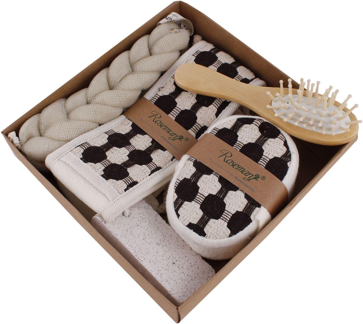 Набор банных аксессуаров Patricia, 5 предметов, цвет: белый. IM99-1331/2IM99-1331/2Набор банных аксессуаров включает: мочалка 20х4,5 см из синтетического материала; мочалка 68х7,5 см, состав: махровое полотно; массажка 16,5х4 см; мочалка 12,5х9х4 см состав: махровое полотно; пемза 9,5х4,5х1,5 см. Такой набор станет не заменимым и сделает банную процедуру еще более комфортной.