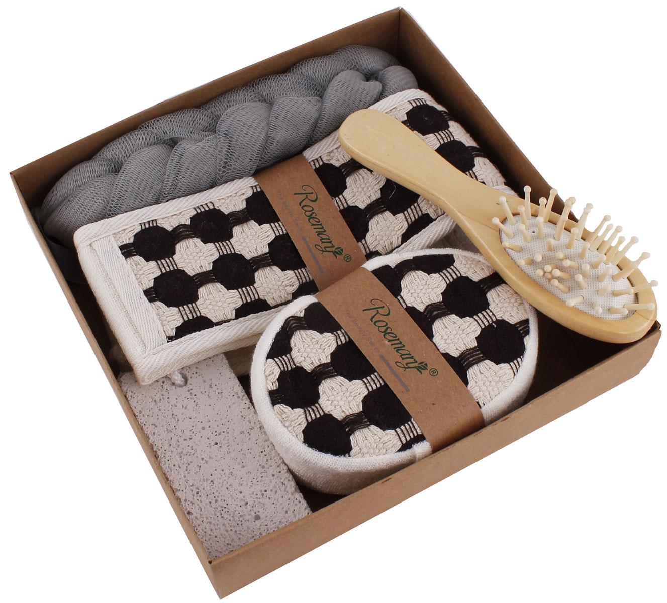Набор банных аксессуаров Patricia, 5 предметов, цвет: серый. IM99-1331/3IM99-1331/3Набор банных аксессуаров включает: мочалка 20х4,5 см из синтетического материала; мочалка 68х7,5 см, состав: махровое полотно; массажка 16,5х4 см; мочалка 12,5х9х4 см состав: махровое полотно; пемза 9,5х4,5х1,5 см. Такой набор станет не заменимым и сделает банную процедуру еще более комфортной.