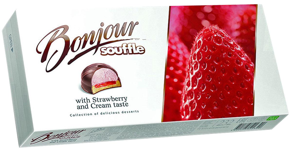 Konti Bonjour Souffle клубника со сливками суфле, 232 г