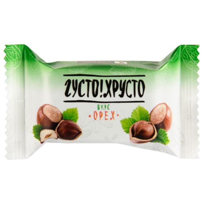Густо Хрусто Орех конфеты глазированные вафельные, 500 г 4660028080277