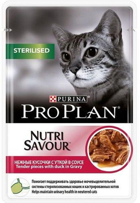Консервы Pro Plan Sterilised для взрослых стерилизованных кошек и кастрированных котов, с уткой, 85 г61999Для взрослых стерилизованных кошек. Нежные кусочки с уткой в соусе. Поддерживает оптимальный вес кошки. Содержит антиоксиданты для естественной защиты организма. МЕ/кг: витамин A: 1204; витамин D3: 168; витамин E: 342. Мг/кг: таурин: 519; железо: 11,49; йод: 0,43; медь: 1,09; марганец: 2,01; цинк: 31,12; селен: 0,025. Влажность: 78%, белок: 13%, жир: 3,3%, сырая зола: 2%, сырая клетчатка: 0,5%.