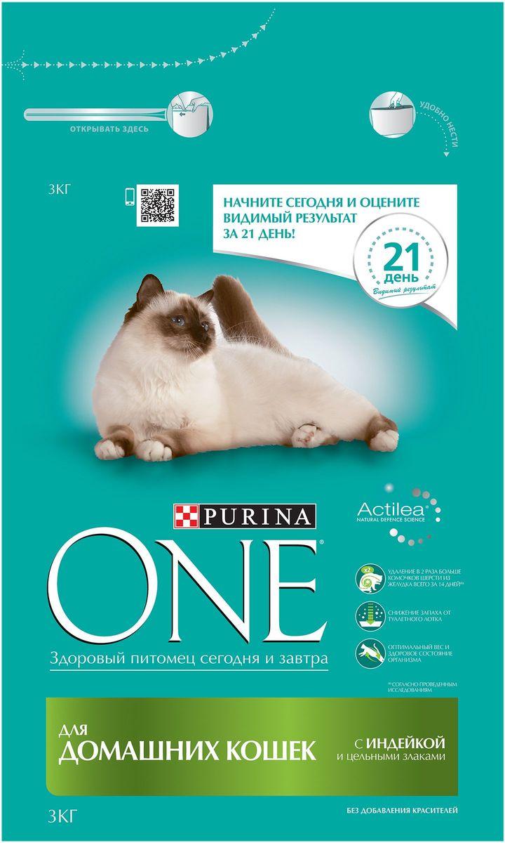 Корм сухой Purina One Indor для домашних кошек, с индейкой и цельными злаками, 3 кг63917Специально разработанное ведущими ветеринарами питание для кошек и котов, которое обеспечивает оптимальное состояние здоровья и веса животного за счет высокого содержания белка. Но помимо протеина домашним кошкам нужно еще и достаточное количество клетчатки в рационе, которая также входит в состав корма Purina ONE®. МЕ/кг: витамин А: 36 960; витамин D3:1 120; витамин E: 770. Мг/кг: витамин С: 160, таурин: 780; железо: 253; йод: 3,2; медь: 50; марганец: 105; цинк: 428, селен: 0,29. Белок 34,0%, жир 13,0%, сырая зола 7,5%, сырая клетчатка 6,0%.