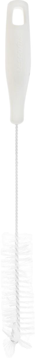 Щетка для посуды Tescoma CleanKit, длина 31 см900665Ершик Tescoma CleanKit предназначен для мытья посуды. Изделие оснащено жесткой прочной щетиной, выполненной из высококачественного термостойкого нейлона и закрепленной на металлическом крученом стержне. Эргономичная рукоятка, изготовленная из пластика, оснащена отверстием для подвешивания. Длина щетки: 31 см. Размер рабочей части: 11 х 3 х 3 см.