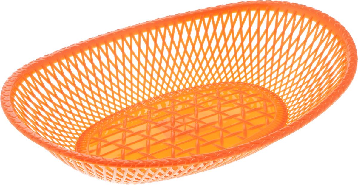 Сухарница Альтернатива, цвет: оранжевый, 30 х 20 х 5,5 смМ271_оранжевыйОвальная сухарница Альтернатива выполнена из высококачественного пластика. Стенки декорированы перфорацией. Такая сухарница послужит приятным и полезным сувениром для близких и знакомых и, несомненно, доставит массу положительных эмоций своему обладателю.
