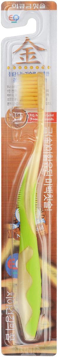 EQ MaxON Зубная щетка, детская, c наночастицами золота, средняя жесткость цвет салатовый160102_салатовыйEQ MaxON Зубная щетка, детская, c наночастицами золота, средняя жесткость цвет салатовый