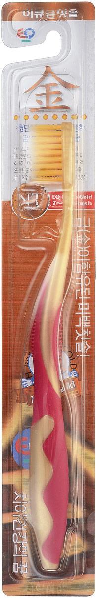 EQ MaxON Зубная щетка, детская, c наночастицами золота, средняя жесткость цвет красный160102_красныйEQ MaxON Зубная щетка, детская, c наночастицами золота, средняя жесткость цвет красный