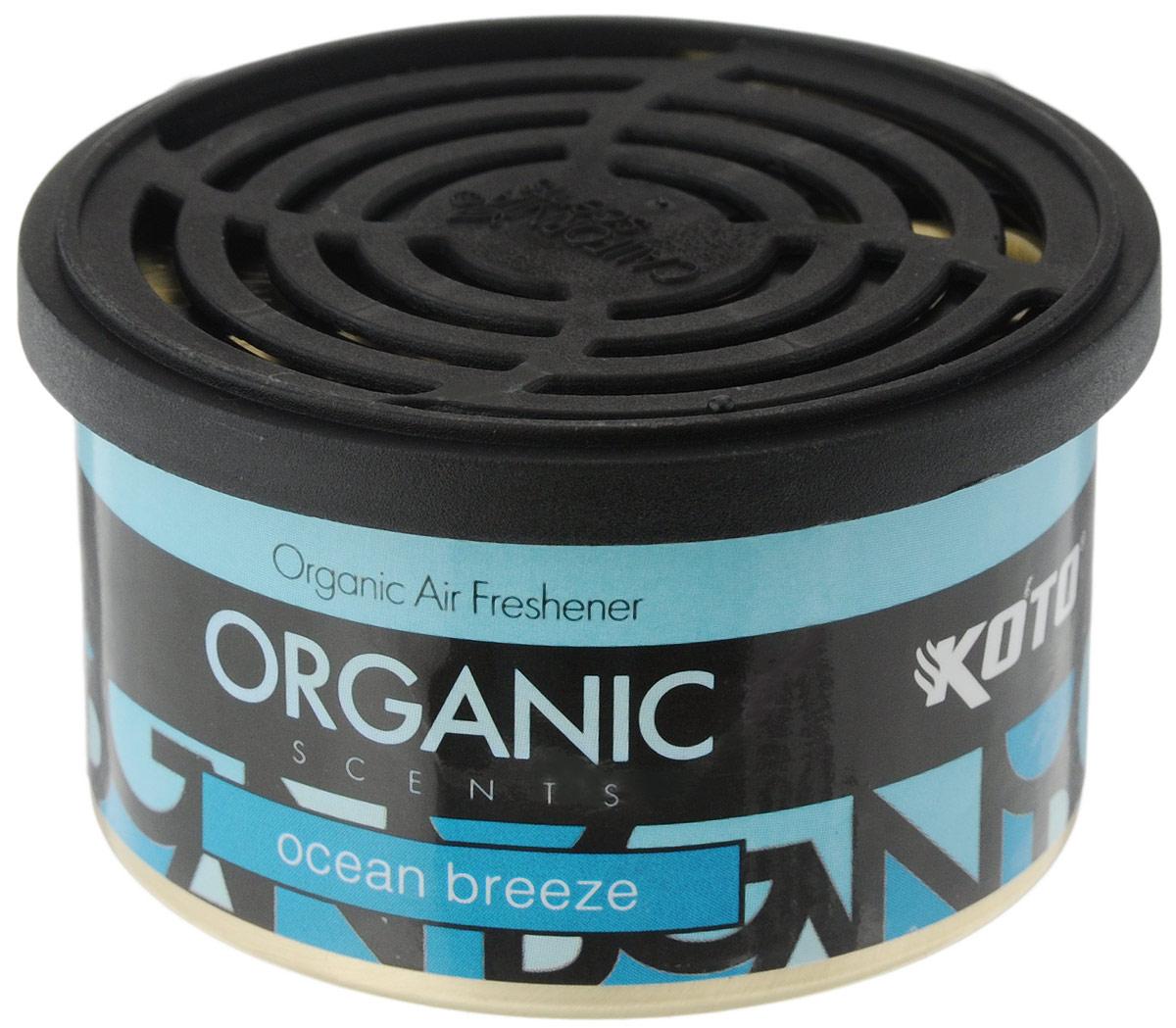 Ароматизатор автомобильный Koto Organic, океанский бризFPO-112Автомобильный ароматизатор Koto Organic эффективно устраняет неприятные запахи и придает приятный аромат океанского бриза. Внутри -- органический наполнитель, который не растекается и не вредит окружающей среде. Ароматизатор имеет удобную крышку-регулятор, так что интенсивность аромата вы сможете настроить сами. Стойкий аромат держится около 60 дней. Ароматизатор может быть расположен как на приборной панели, так и под сиденьем автомобиля. Товар сертифицирован.