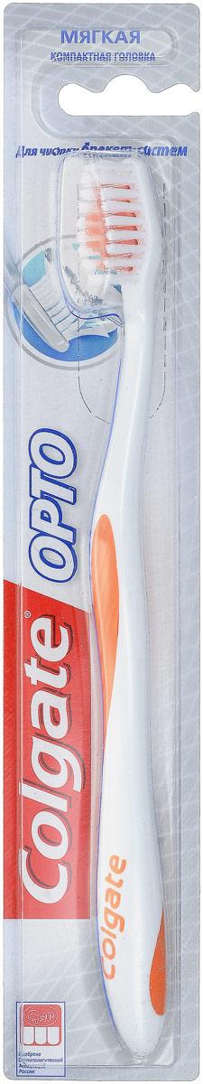 Colgate Зубная щетка Орто, мягкая, компактная головка, цвет: белый, оранжевыйFCN21161_белый, оранжевый