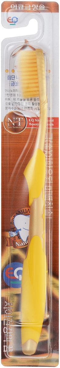 EQ MaxON Зубная щетка c наночастицами золота, сверхтонкой двойной щетиной, средняя жесткость цвет желтый160225_желтыйEQ MaxON Зубная щетка c наночастицами золота, сверхтонкой двойной щетиной, средняя жесткость цвет желтый