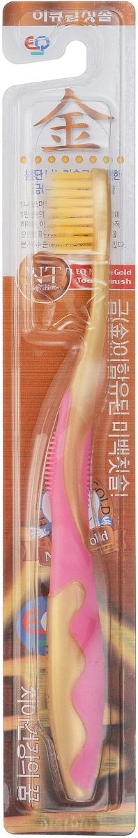 EQ MaxON Зубная щетка, детская, c наночастицами золота, средняя жесткость цвет розовый160102_розовыйEQ MaxON Зубная щетка, детская, c наночастицами золота, средняя жесткость цвет розовый