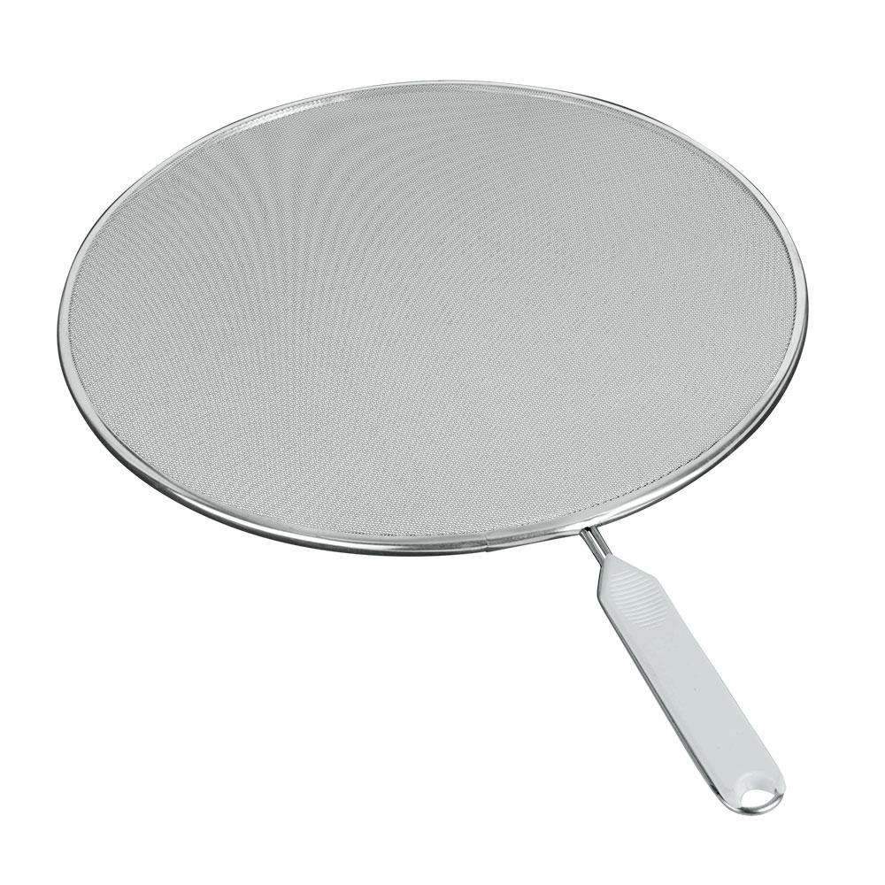Охранное сито Metaltex, диаметр 29 см. 20.61.2920.61.29Охранное сито Metaltex изготовлено из стали. Сито предназначено для охраны плиты и окружающей обстановки от загрязнения при сильной жарке - положите сито на сковороду и используйте как крышку. Также можно использовать как сито для процеживания, либо как подставку под горячее. Характеристики: Диаметр: 29 см. Длина ручки: 13 см.