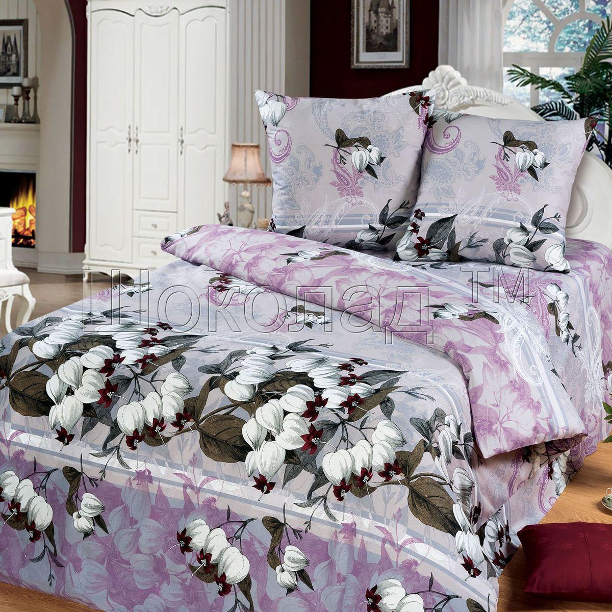 Комплект белья Шоколад Анита, 2-спальный с простыней евро, наволочки 70x70. Б109Б109
