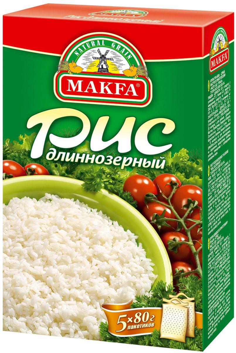 Makfa рис длиннозерный шлифованный, 400 г
