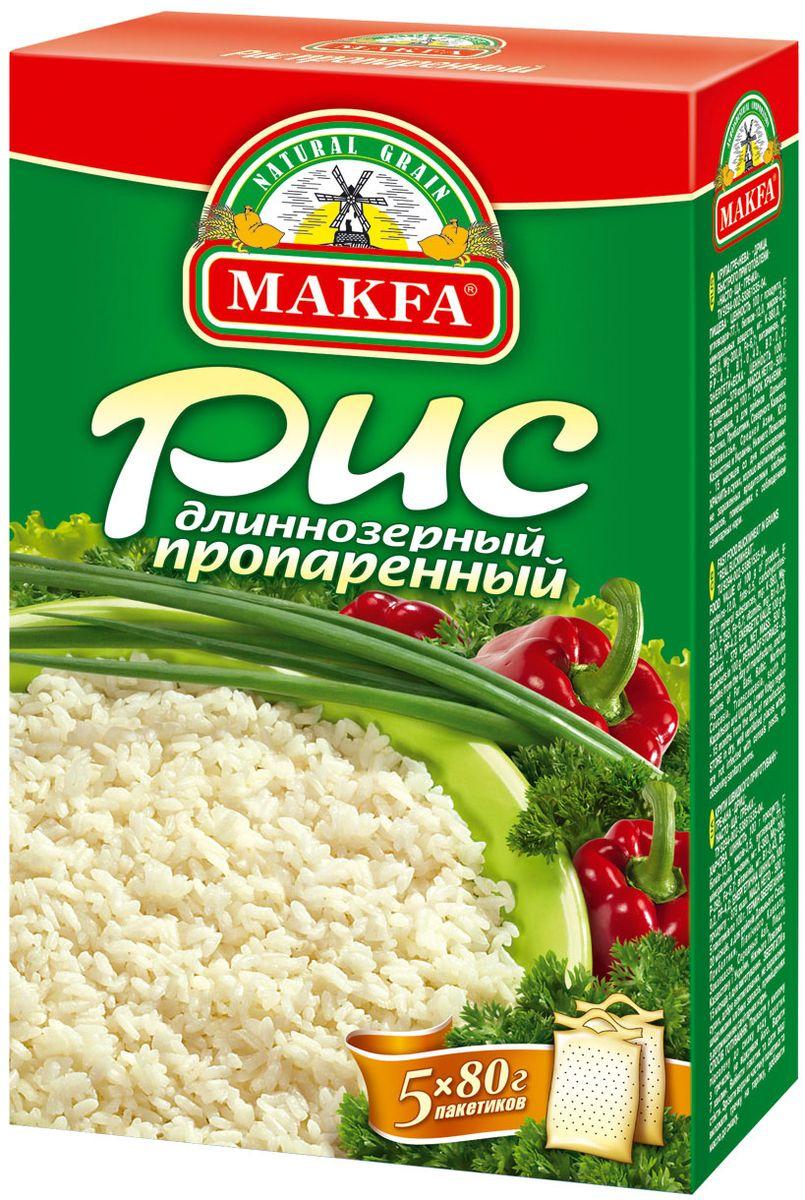 Makfa рис длиннозерный пропаренный, 400 г