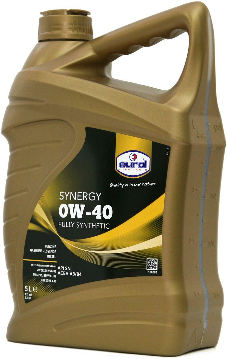 "Масло моторное EUROL ""Synergy"", класс вязкости 0W-40, 5 л"