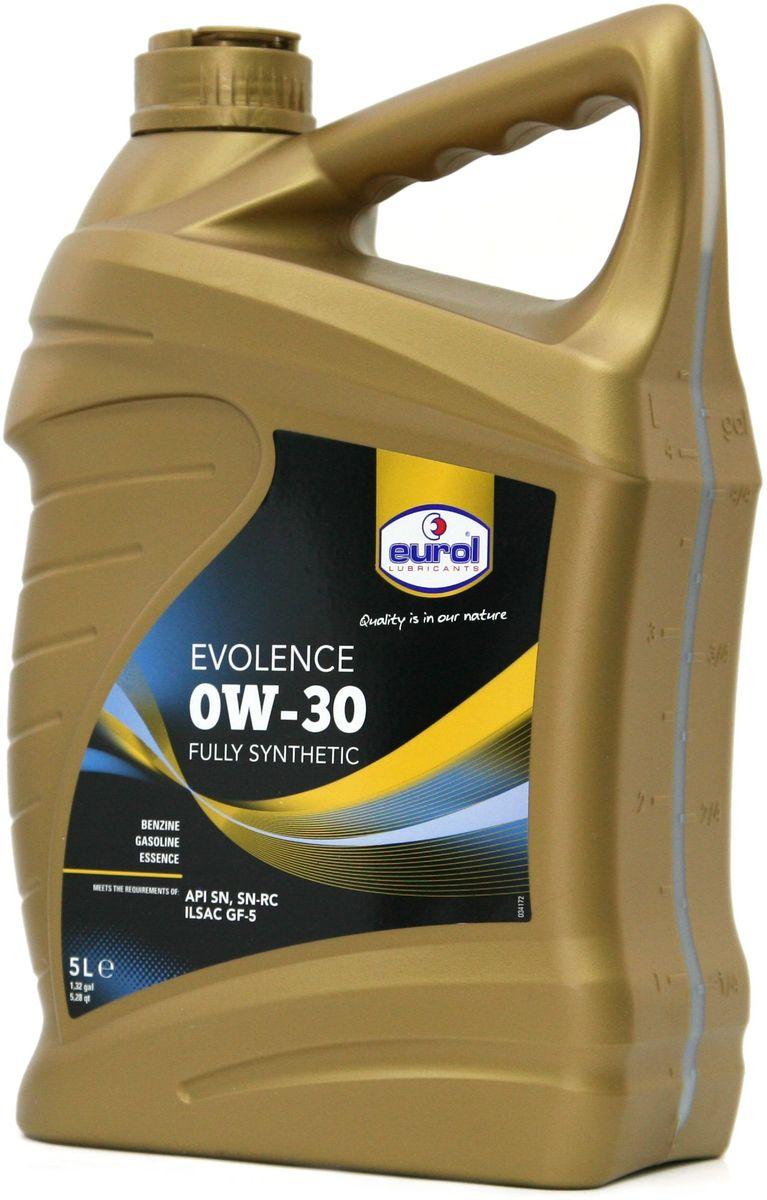 Масло моторное EUROL Evolence, класс вязкости 0W-30, 5 лE100129-5lПолностью синтетическое моторное масло с длительным сроком эксплуатации и хранения на основе технологии mid SAPS (сниженное содержание сульфатной золы, фосфора и серы). Eurol Evolence включает в себя спектр полностью синтетических моторных масел для бензиновых двигателей легковых автомобилей. Это масло может быть использовано в машинах, оснащенных каталитическими нейтрализаторами отработавших газов, двигателями с турбонаддувом и системами прямого впрыска, где требуется применение масел типа API SN/SN-RC (а также SJ, SL и SM) или ILSAC GF-5 (а также GF-2,-3 и -4). Синтетическое моторное масло Eurol Evolence, изготовленное с присадками ОPТ предлагает исключительно высокий уровень защиты, в том числе — для турбокомпрессоров, после продолжительных интервалов между заменами масла. Масло Eurol Evolence противостоит окислению при высокой температуре, а также образованию отложений, предотвращает появление шлама и нагара на поверхностях, и соответствует высочайшим стандартам 2010 США...