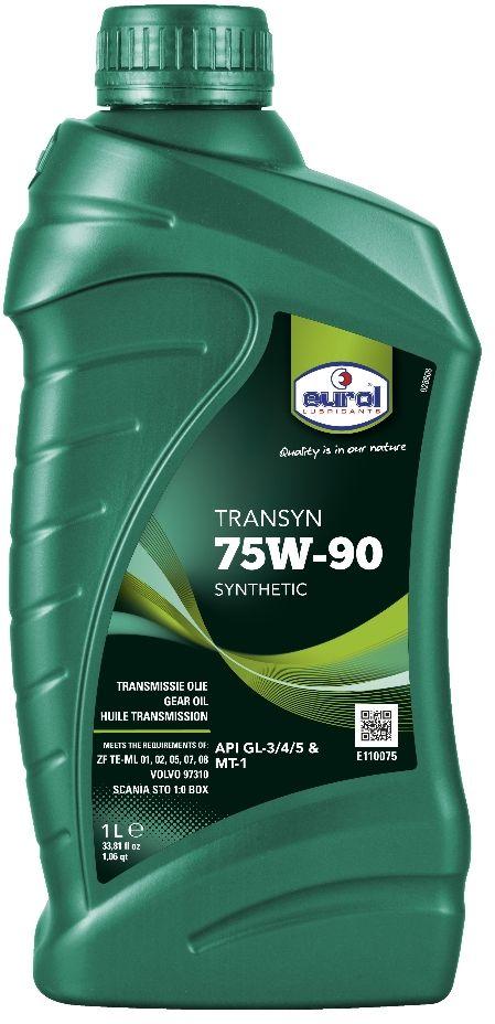 Масло трансмиссионное EUROL Transyn, класс вязкости 75W-90, GL 4/5, 1 лE110075-1lСинтетическое трансмиссионное масло для коробок и мостов Eurol Transyn 75W-90 – это синтетическое универсальное трансмиссионное масло, для использования как в ручных трансмиссиях, так и передачах, где рекомендуется применять API GL-3, GL-4 или GL-5. Трансмиссионное масло Eurol Transyn 75W-90 может использоваться во всей типах передач. Специальные добавки уменьшают потребление топлива и устраняют проблемы переключения. Благодаря уникальному составу, это масло обеспечивает превосходную защиту от износа, коррозии и вспенивания, а также от термического окисления и старения при высоких температурах. Eurol Transyn 75W-90 используется в синхронизированных коробках передач и обеспечивает мягкое переключение даже при низких температурах. Трансмиссионное масло Eurol Transyn 75W-90 показывает отличные EP (Extreme Pressure) свойства при высоких нагрузках и вибрации. Потери вязкости при нагрузке минимальны, поэтому интервалы замены масла могут быть увеличены. API: GL3/4/5; DAF...