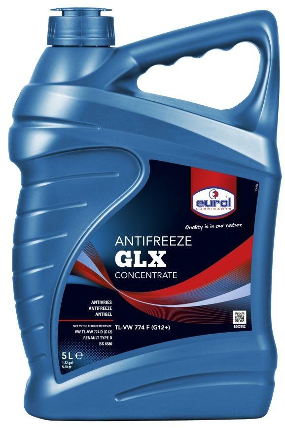 Жидкость охлаждающая EUROL Antifreeze GLX, G-12, 5 лE503152-5lАнтифриз longlife, без силикатов, TL-VW 774 F (G12+). Eurol Anti-Freeze G12+ — антифриз нового поколения на основе моноэтиленгликоля, по запатентованной технологии без силикатов на карбоксильной кислоте. Эта технология известна как OAT (Organic Acid Technology). Eurol Anti-Freeze G12+ предотвращает образование накипи и превосходно защищает от кавитации. Кроме того, защищает от коррозии металлические части системы охлаждения и, в часности, аллюминиевые и стальные сплавы. Eurol Anti-Freeze G12+ не содержит нитриты, амины, соли борной кислоты, фосфаты, нитраты и силикаты, поэтому способствует незагрязнению окружающей среды. Eurol Anti-Freeze G12+ не повреждает резину, пластик, металлы, аллюминий и сплавы. Типичные показатели: Anti-Freeze G12+ Плотность 20°C Kг/Л 1,115 pH-значение при 33 vol.% 8,0 ± 0,2 при 50 vol.% 7,5 ± 0,2 Точка кипения °C 175 ± 2 Содержание воды Wt% max. 5
