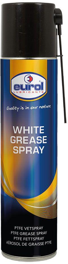 Смазка-спрей на литевой основе EUROL WHITE GREASE SPRAY with PTFE, с тефлоном, 400 млE701420-400mlEUROL WHITE GREASE SPRAY with PTFE спрей смазка на литиевой основе с политетрафторэтиленом (тефлоном) . Универсальная смазка для эффективного и длительного смазывания цепей, петлей, пружин, подшипников, осей, рессор, резьбовых соединений и многих других движущихся частей. Обладает высокой стойкостью к коррозии и температуре.